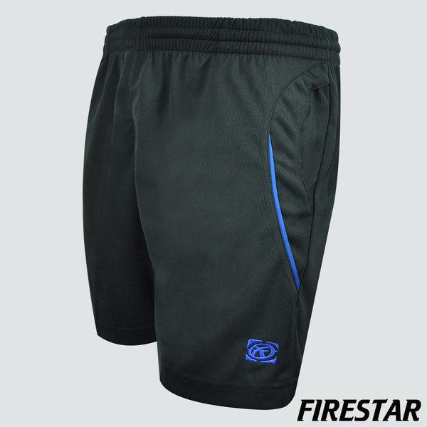 FIRESTAR-男性吸濕排汗慢跑短褲-黑/寶藍 C4910-10