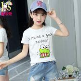 女童t恤短袖夏裝2018新款寶寶打底衫中大童半袖兒童體恤夏季 年貨必備 免運直出