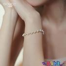 手鍊 手鐲新款仙女氣質珍珠手鍊小眾設計閨蜜女生簡約首飾手鐲女夏古里雅 寶貝 新品