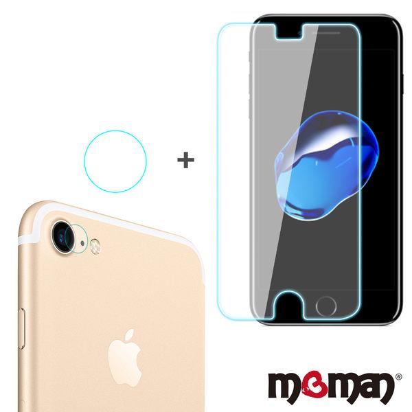 Mgman iPhone 7/8 (4.7吋) 9H抗刮鋼化螢幕玻璃保護貼+鏡頭貼組