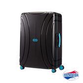 AT美國旅行者 25 吋Lock 'N' Roll PP硬殼三點式TSA鎖扣行李箱(黑)