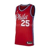 Nike 球衣 Ben Simmons 76ers Statement Edition 2020 Jordan NBA Swingman Jersey 紅 藍 男款 運動休閒 【ACS】 CV9490-660