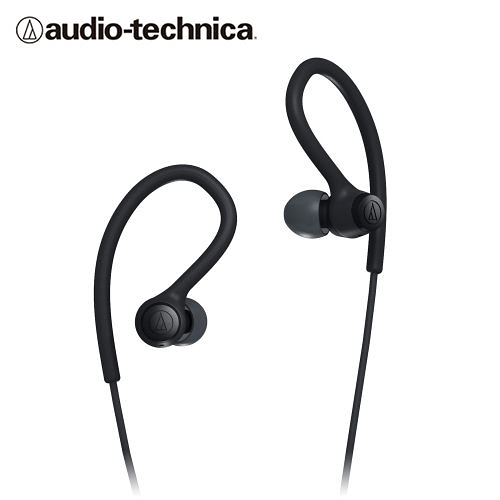 全新 鐵三角 ATH-SPORT10 防水運動型耳掛耳塞式耳機 黑色 台灣鐵三角公司貨