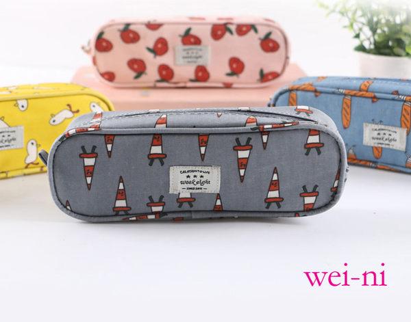 wei-ni 創意WeekEight防水帆布小巧筆袋 萬用袋 收納包 零錢包 鉛筆盒 行動電源包