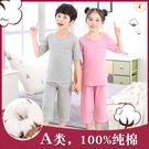 兒童睡衣家居服夏季男女童大碼睡衣套裝純棉空調服小中大童南極人