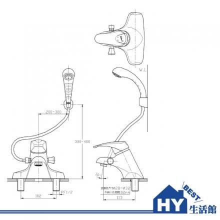 HCG 和成 LF3102T 生物能科技臉盆沐浴龍頭 -《HY生活館》水電材料專賣店
