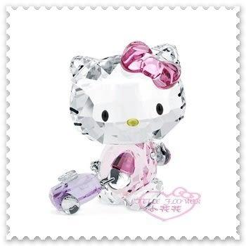 ♥小花花日本精品♥ Hello Kitty x Swarovski 品牌合作 水晶擺飾 居家擺飾 收藏 00809306