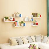 牆上置物架客廳牆壁掛牆面隔板擱臥室多層書架免打孔簡約現代裝飾XW中秋烤肉鉅惠