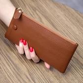 2020新款頭層牛皮韓版超薄女士長款錢包女真皮簡約時尚錢夾手機包 HOME 新品