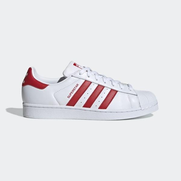 ADIDAS SUPERSTAR [BD7420] 女鞋 運動 休閒 經典 街頭 百搭 必備 愛迪達 白紅