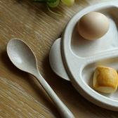 ✭米菈生活館✭【L162】分格餐盤三件套 兒童 餐具 湯匙 叉子 環保 止滑 手柄 用餐 外出 廚房