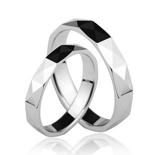 白鎢金戒指永不磨損褪色 單個價