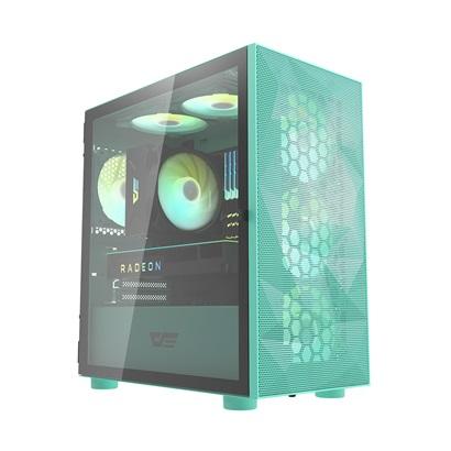 darkFlash DLM21 Mesh M-ATX 電腦機殼/機箱 鐵網版-薄荷綠(不含風扇)【DF01-0027】