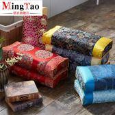 宮廷蕎麥方枕頭古典中國風老式方形枕復古繡花仿古中式紅木家具枕igo   蜜拉貝爾