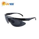 UV100 防曬 抗UV Polarized流線型掀蓋太陽眼鏡-附2色鏡片