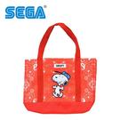 紅色款【日本正版】史努比 肩揹提袋 手提袋 肩背包 托特包 Snoopy SEGA - 334877