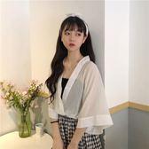 夏季女裝韓版學生襯衫短袖上衣假兩件洋氣襯衣小清新寬松    芊惠衣屋