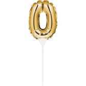 金色數字氣球蛋糕裝飾-0