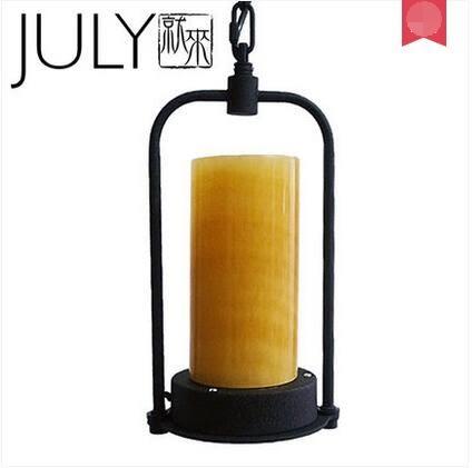 美術燈  工業loft玄關過道走廊LED美式鄉村餐桌酒吧胖款古堡火燭吊燈-不含光源