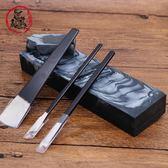 黑青石天然原石加工切割傳統養肝石老磨刀石家用修腳刀細磨石漿石