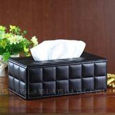 HONEY COMB 經典雅致黑羊皮紋面紙盒 GT-3016