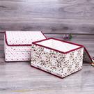 收納箱   花朵棉布蕾絲收納盒8L 衣物收納箱 小物收納箱  仿麻布收納箱 【BNA053】-收納女王