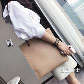 (萬聖節)女包包2018新品日正韓時尚潮托特包簡約百搭撞色手提包單肩包大包