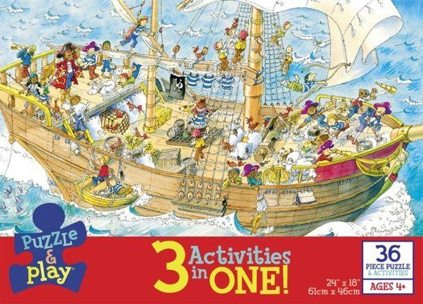 【KANGA GAMES】拼圖 三合一玩樂拼圖系列 - 海盜 3 in 1 Puzzle & Play - Pirates  36片
