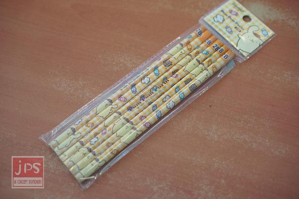 布丁狗 塗頭木頭鉛筆6入 (黃方格底)
