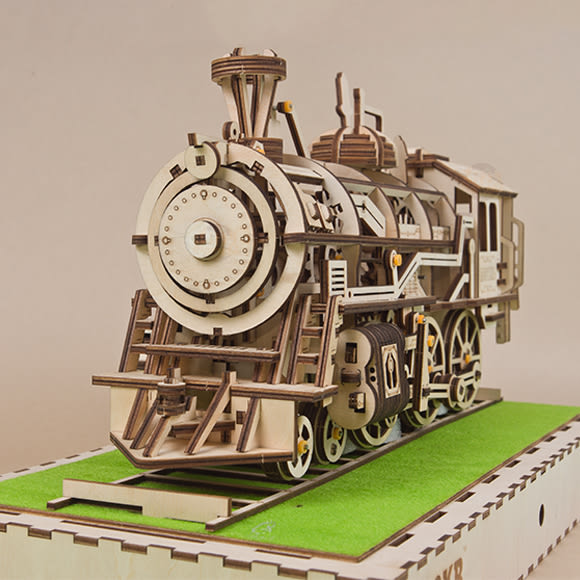 DIY 木質立體拼圖音樂盒 懷舊時光列車【RB001】
