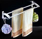 雙12好禮 免打孔毛巾架浴室太空鋁浴巾架衛生間毛巾掛架加長單桿雙桿毛巾桿