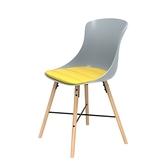 組 - 特力屋萊特 塑鋼椅 櫸木腳架30mm/灰椅背/黃座墊