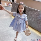 熱賣兒童洋裝 女童連身裙夏裝2021年新款洋氣學院風兒童裝女寶寶短袖女寶寶裙子【618 狂歡】