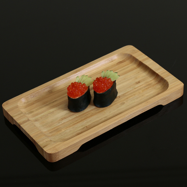 竹托盤壽司刺身盤料理餐具長方托盤沏茶點心水果糖果瓜子托盤