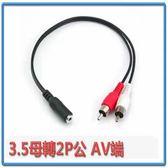 i-wiz 3.5母轉2P公 AV端子RCA訊號線 0.3m AD-25