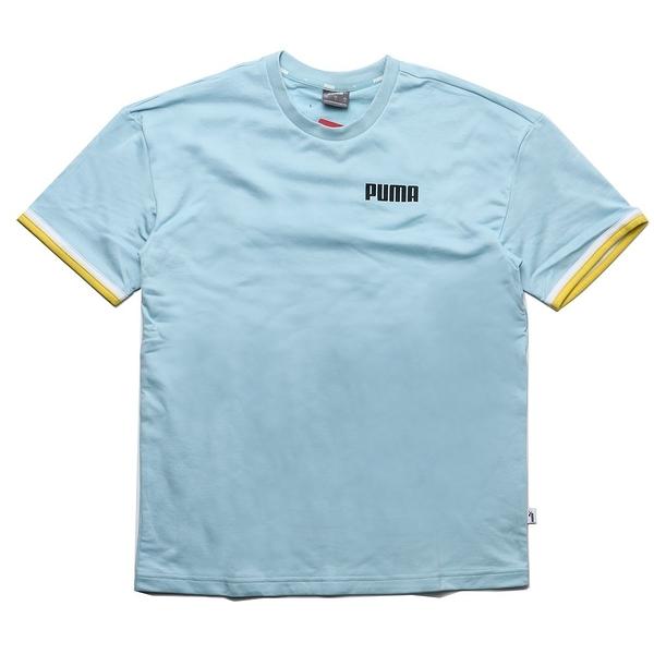 PUMA 短袖 CELEBRATION 水藍 棉T 短T 男(布魯克林) 58415518
