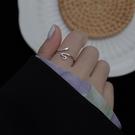 銀蛇戒指女純銀小眾設計ins潮簡約冷淡風時尚個性單身食指指環 設計師