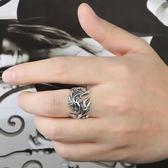 925純銀男士戒指復古龍紋霸氣指環開口泰銀個性時尚潮大氣單戒子 熊貓本