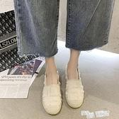 小白鞋女ins潮2021年秋新款軟底舒適一腳蹬豆豆鞋韓版百搭漁夫鞋 夏季狂歡