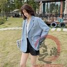 韓版西裝外套辦公室西服S-XL990春秋款鏈條港風小西服潮【風之海】
