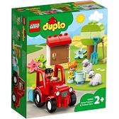 樂高積木 LEGO《 LT10950》Duplo 得寶系列 - 拖拉機 & 動物照護中心 / JOYBUS玩具百貨