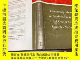 二手書博民逛書店Elementary罕見Theory of Analytic F
