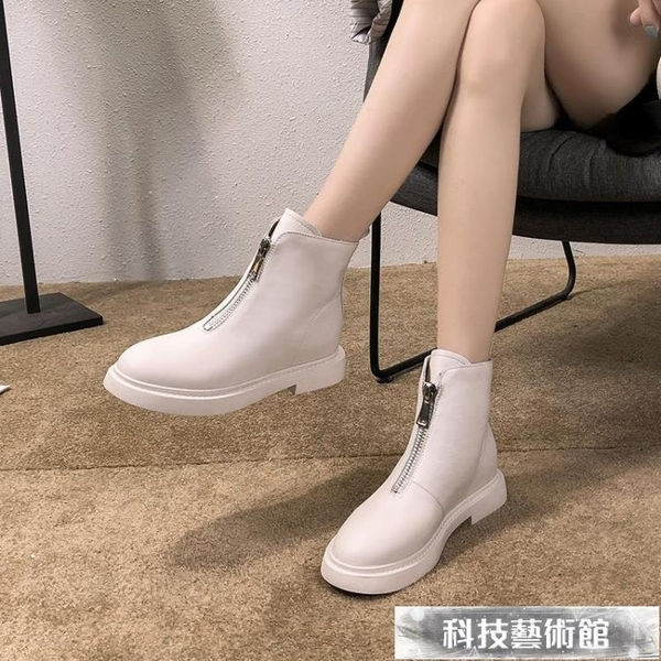 瘦瘦鞋網紅ins馬丁靴女夏季新款春秋單靴透氣薄款英倫風短靴子潮