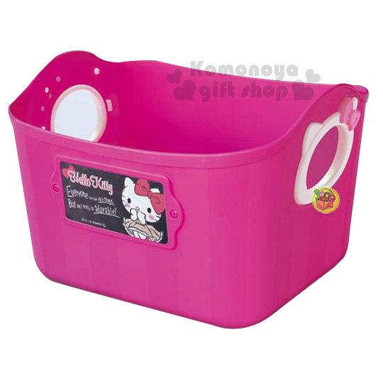 〔小禮堂〕Hello Kitty 日製軟式收納盒《L.桃紅》2.5L.收納籃4904121-34052