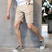 夏季韓版短褲男士休閒褲寬鬆五分褲中褲男夏5分直筒馬褲男潮薄款 花樣年華