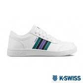 【超取】K-SWISS Court Clarkson S 時尚運動鞋-男-白/紫/綠