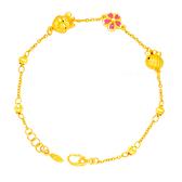 維尼蜜蜂手鍊-迪士尼系列金飾-黃金手鍊