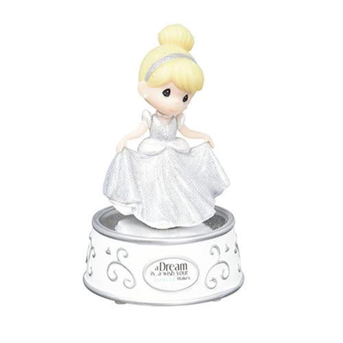 《Precious Moments》DISNEY迪士尼灰姑娘水滴娃娃旋轉音樂塑像-Cinderella Rotating Musical_PX03734