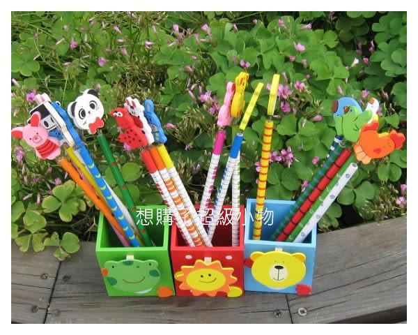 小筆筒 木質可愛動物筆筒   想購了超級小物