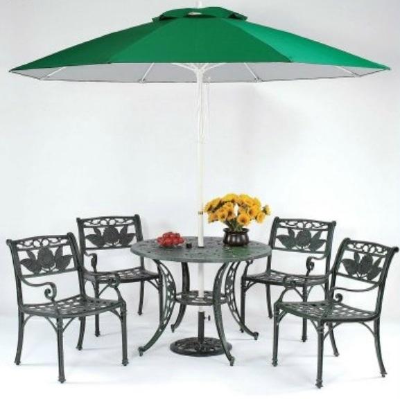 【南洋風休閒傢俱】戶外休閒桌椅系列-向日葵鋁合金扶手桌椅組 戶外休閒餐桌椅  (#069T #13301)